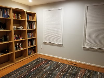 The new area rug in the back bedroom