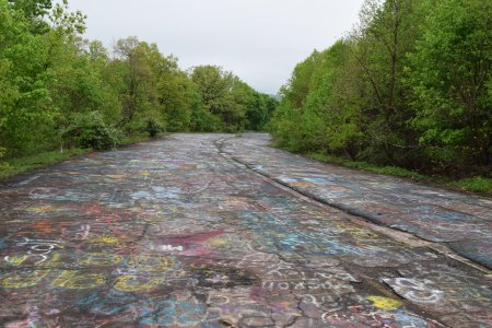 The Graffiti Highway, viewed from the north end