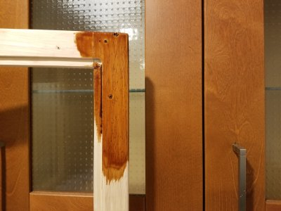 Side-by-side comparison with the picture frame and the cabinet door.