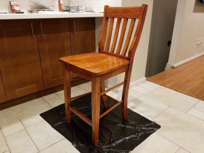 First chair completed.