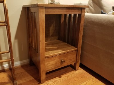 The end table, completed