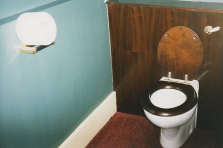The toilet at the top of Royal Albert Hall.  We were told that this was where the Queen did her business when visiting there.