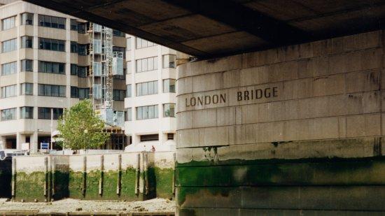 The underside of London Bridge.