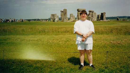 Me posing in front of Stonehenge.