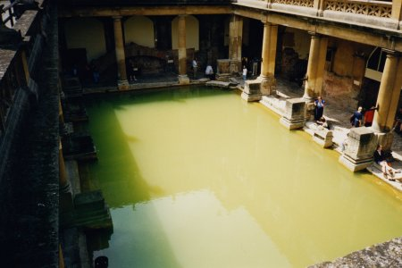 The baths, viewed from above.