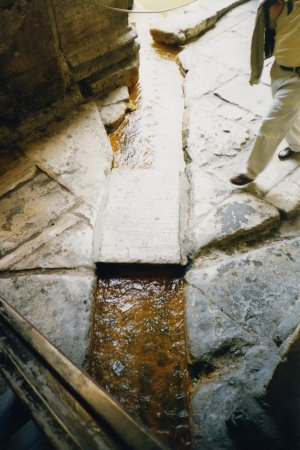 Water channel leading to the baths.