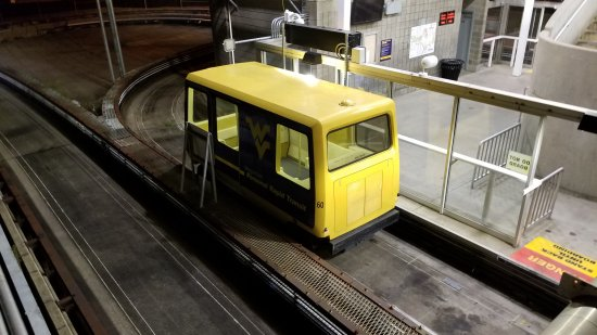 Our PRT vehicle as we left the station