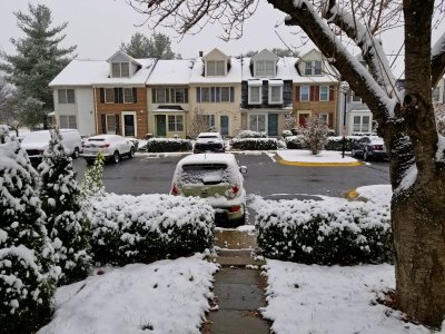 The Soul's first snowfall in Montgomery Village, and, as it would turn out, my last photo of her fully intact.