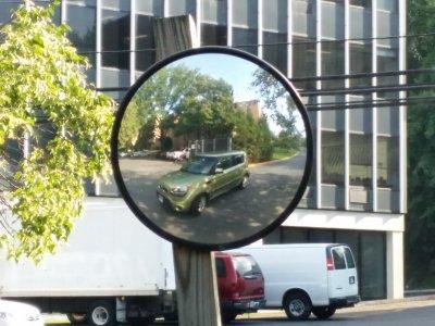 Selfie in a mirror in Rockville, Maryland, July 15, 2015.