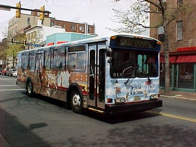 "Back in 2002, the King Street Trolley was called ""Dash About"", and used a standard Gillig Phantom with a wrap on it for the special service."