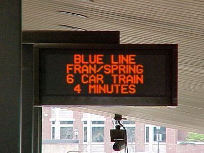 It's so weird to see some of the old messages that the PIDS used to display.  I'll bet that a lot of people nowadays don't remember when the PIDS would show the time, or use the whole screen for one train's information.  The current three-train display was not implemented until 2005.