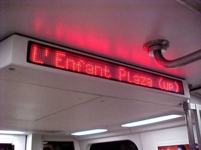 The 5000-Series was also Metro's first time using mixed case on the train signs.  This was replaced with all caps a year or so later.