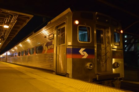 Our SEPTA Regional Rail train at Trenton.