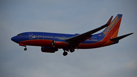N263WN, in the old Southwest livery.