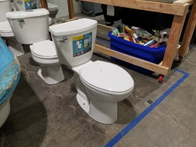 The new toilet at the Habitat store