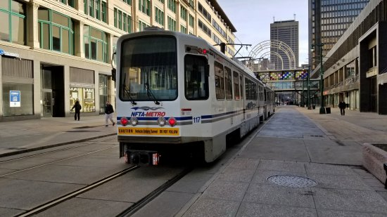 Buffalo light rail system. We didn't ride due to time constraints.