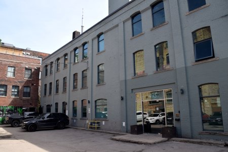 """495 King Street West, which formerly housed Morgese-Soriano, a manufacturer of mannequins. This is where the magic hat led Waldo the Magnificent in """"Our Story Part 2"""", ultimately landing on Jeff's head, bringing him to life for the first time."""