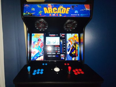 MotoRace USA for arcade, also known as Traverse USA and Zippy Race.