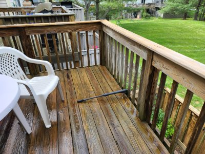 The deck, cleaned