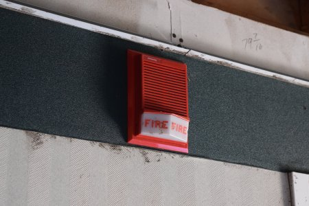 Edwards fire alarm horn/strobe. The fire alarm panel was completely trashed, but the horns were still completely intact.