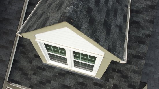 Overhead view of the dormer at the mezzanine level.