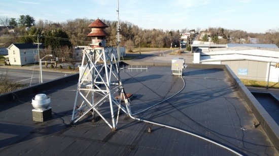 Siren structure on top of the Waynesboro fire department.