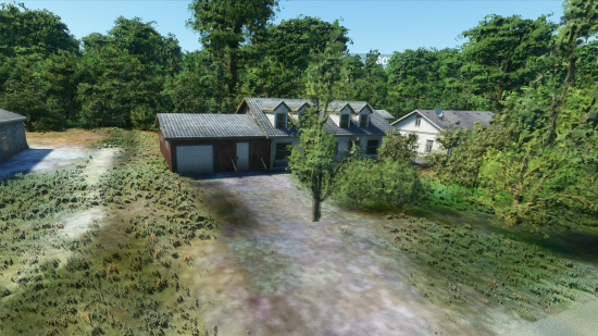 My parents' house in the flight simulator game