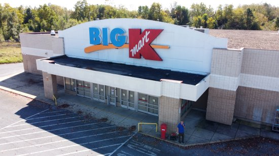 Kmart in Waynesboro, from the air