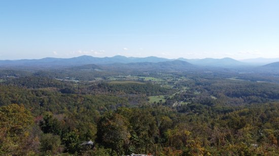 The Blue Ridge Mountains, viewed from the overlook