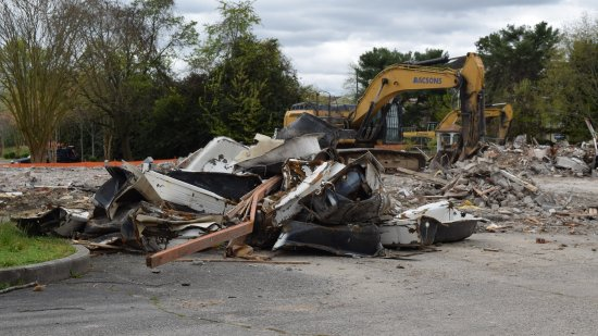 The motor lodge was gone, now just rubble.