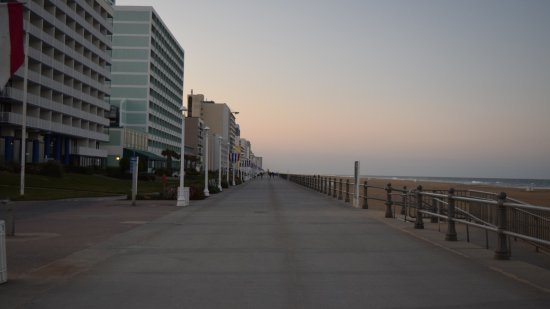 The Virginia Beach boardwalk, at approximately 20th Street.