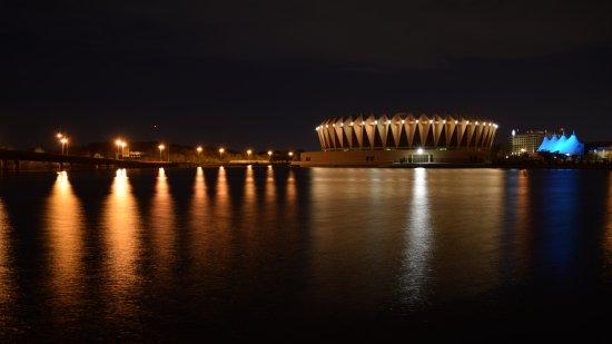 Hampton Coliseum at night