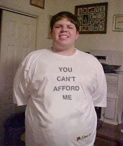 """""""YOU CAN'T AFFORD ME"""", going for some attitude this time"""