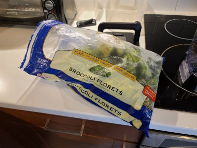 A big bag of Bird's Eye broccoli