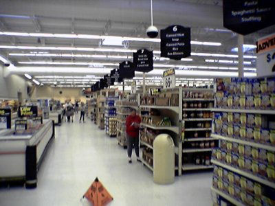 New signage is all installed in the grocery section.