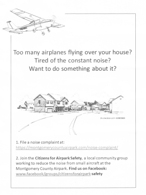 Citizens for Airpark Safety flyer