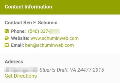 AllBiz contact information for me
