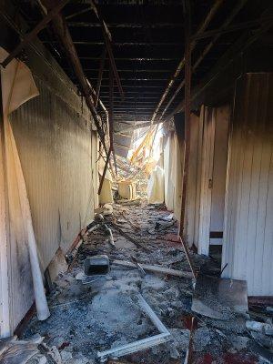 First floor corridor, shot through the door (we didn't risk going inside).