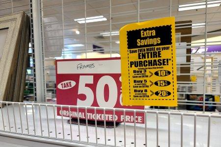Liquidation sale signage.