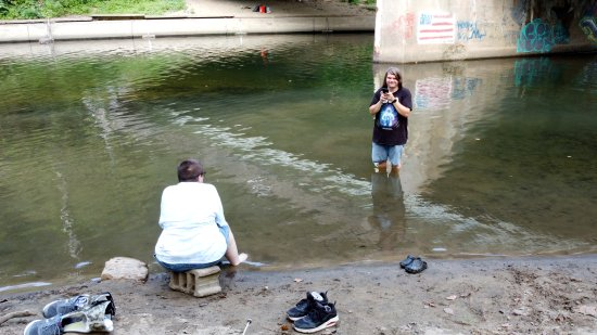 Elyse and Kyle in the Patapsco River.