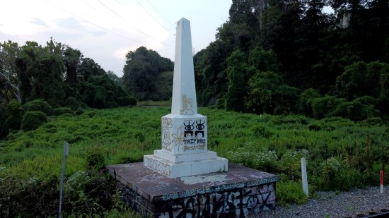 The obelisk. I was kind of disappointed that it was covered with graffiti.