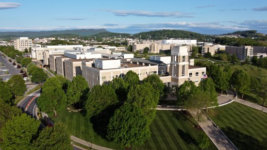 The ISAT/CS Building and adjoining buildings behind it.