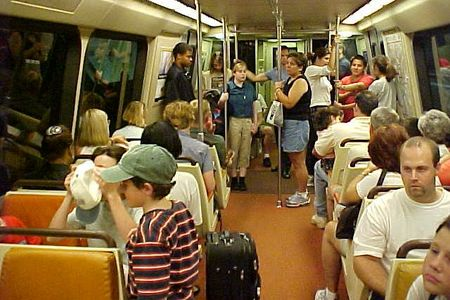 Riding another Breda car on the Orange Line.