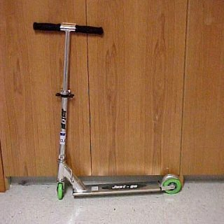 """My old """"Just Go"""" Razor-like scooter"""
