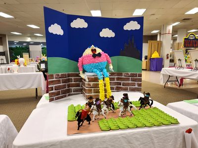 Humpty Dumpty made out of Peeps.