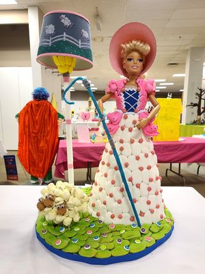 Little Bo Peep. I found it pretty refreshing that the person who made this didn't put a mask on her like too many other people did in their creations.