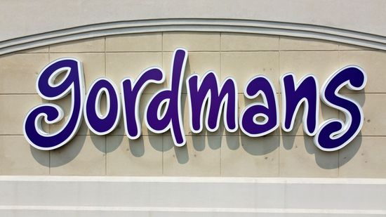 Straight-on shot of the sign on the former Gordmans.