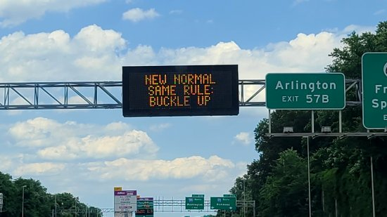 """New normal, same rule: buckle up"""