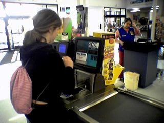Giving the self checkout a whirl