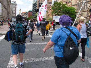 Walking down to the Boston Org.